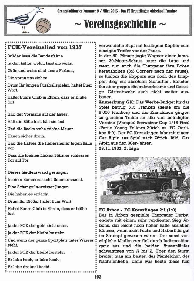 FCK Lied 1937